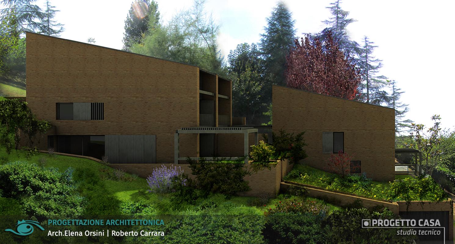 Progetto villetta trifamiliare residenziale
