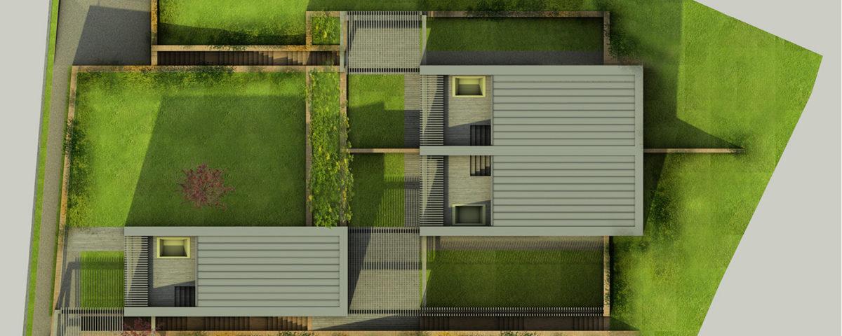 Progetto trifamiliare residenziale