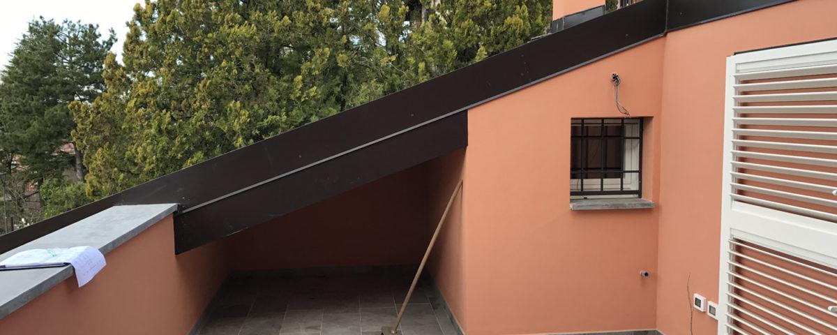 ristrutturazione con terrazza in falda